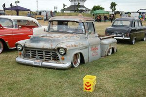 1955 Chevy Step side pickup bagged