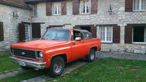 1975 Chevrolet Blazer K5 Cheyenne CABRIOLET UNIQUE For Sale