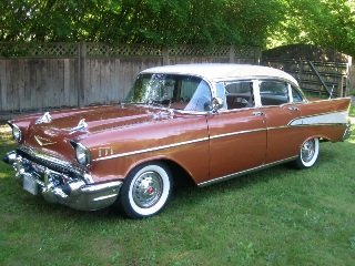 1957 Chevrolet BelAir HardTop Clean Gold 283 Auto $29.5k For Sale