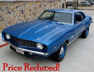 Picture of 1969 Camaro Coupe Fast 427 auto low miles Blue $56k For Sale