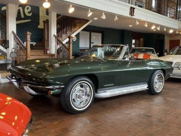 1967 Corvette Roadster Convertible 327 4 Speed Green $56.9k For Sale
