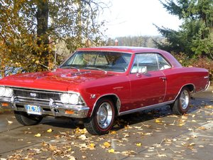 1966 Chevelle SS Super Sport 396 4 speed Restored Red $34.5k For Sale