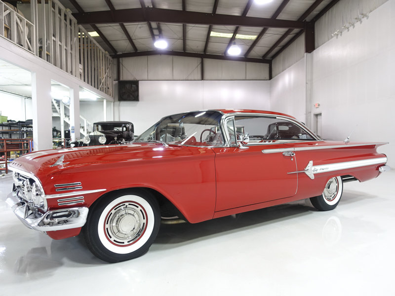 Roman Red 1960 Chevrolet Impala Sport Coupe For Sale (picture 1 of 6)