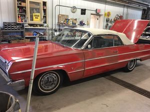 1964 chevy Impala Convertible 283-v8 Auto Dry Driver $25.5k For Sale