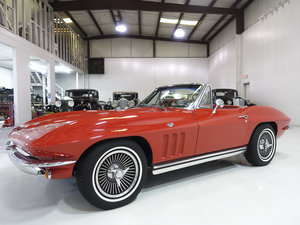 Rally Red 1965 Chevrolet Corvette L76 Sting Ray Convertible
