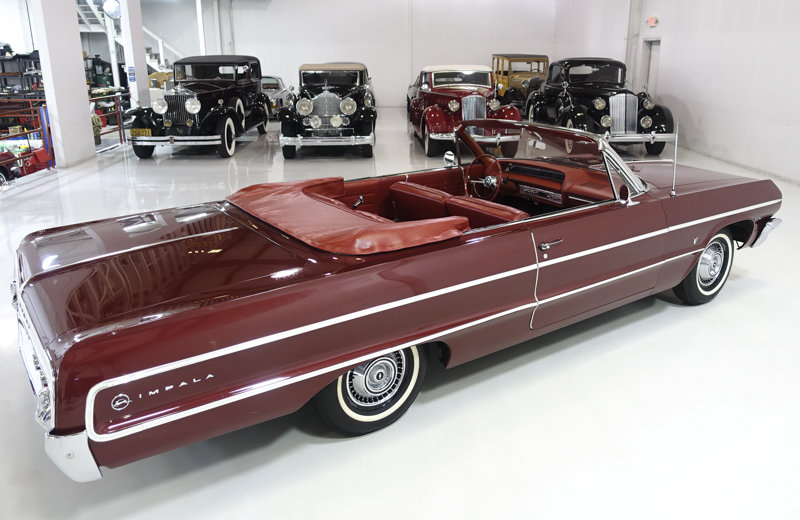 Palomer Red 1964 Chevrolet Impala V8 Convertible For Sale (picture 2 of 6)