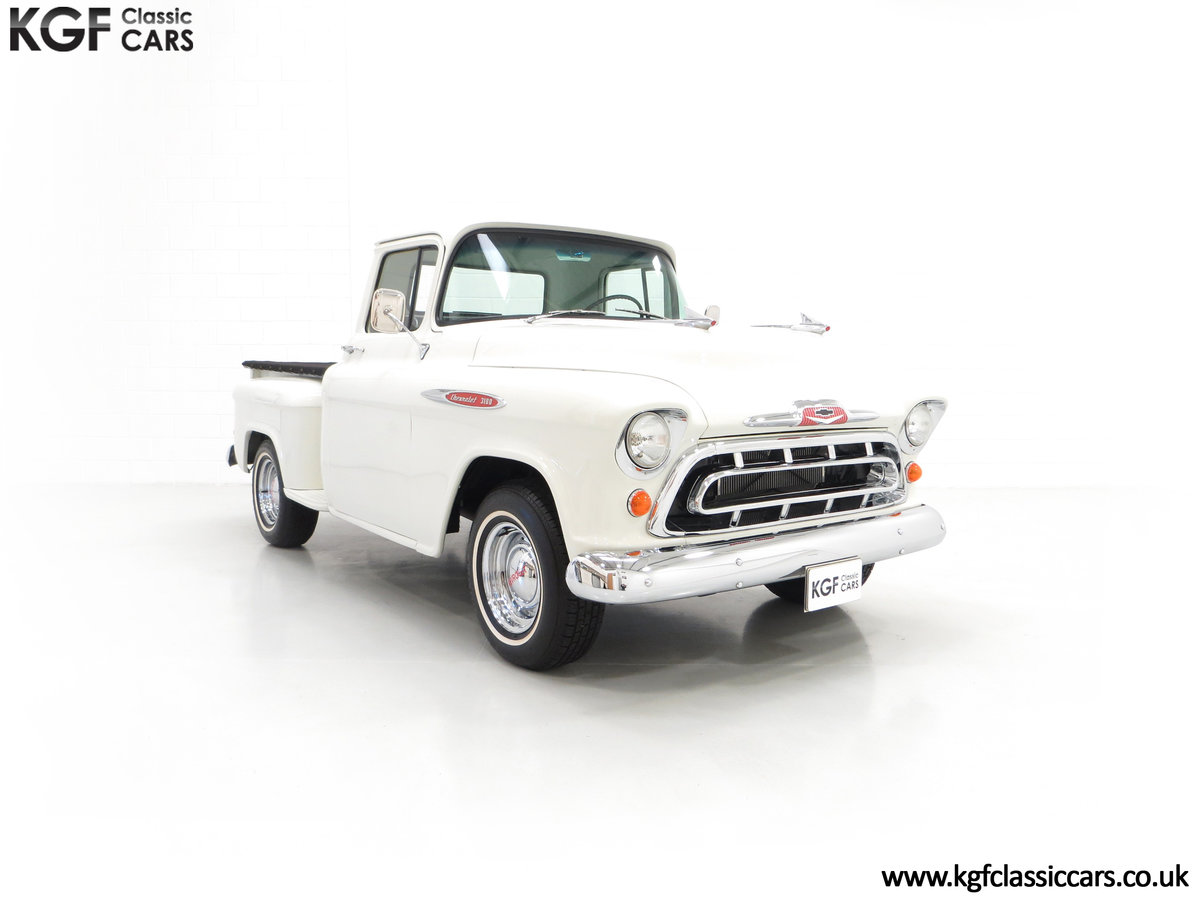 1957 A Gorgeous Chevrolet 3100 Task-Force 57 Stepside Pick Up SOLD (picture 1 of 6)