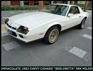 7983 1983 Camaro BERLINETTA Coup V-6 Auto low miles $7.9k
