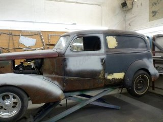 1937 Chevrolet Panel Van Patina Project 350(~)350  $7.5k For Sale