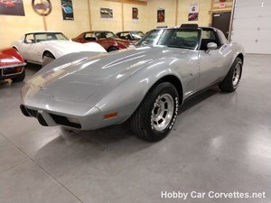 1979 Silver Corvette Black Int For Sale