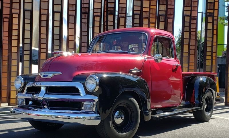 1955 Chevrolet 3100 5-Window Pickup For Sale by Auction (picture 1 of 4)