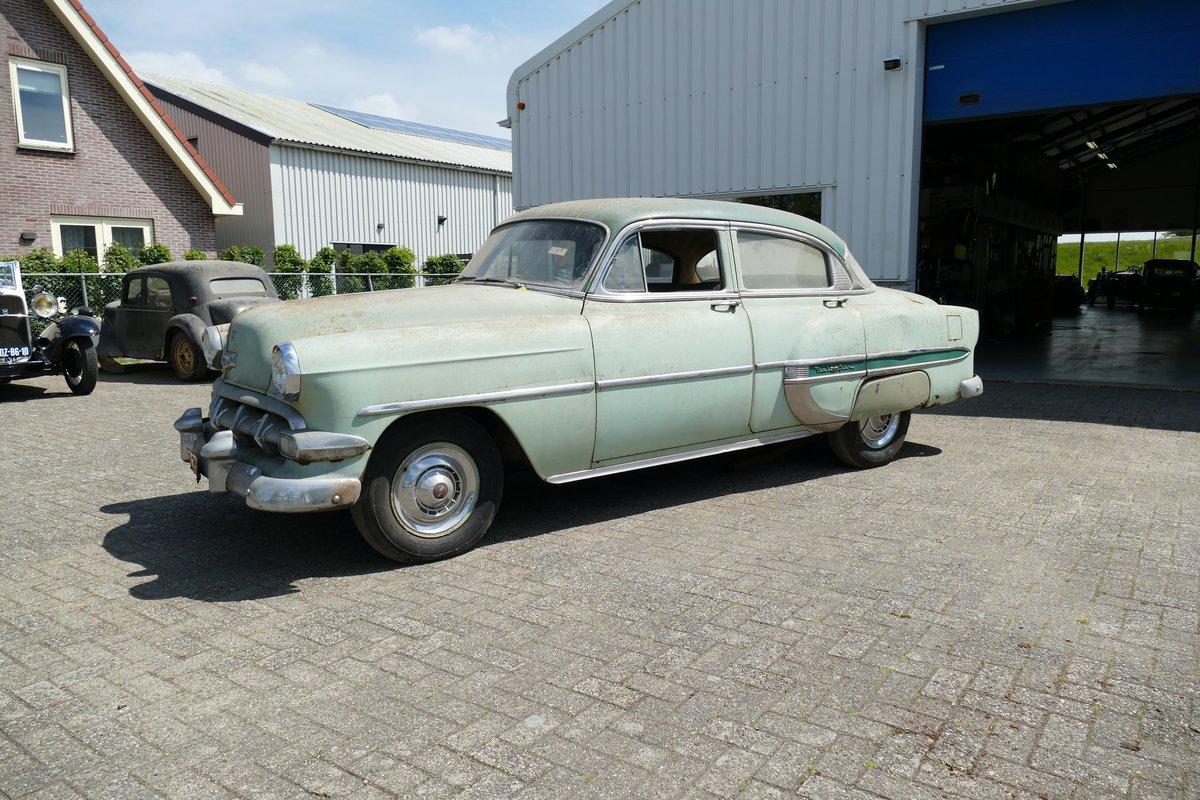 Chevrolet Bel Air 4 Door Sedan 1954 Barnfind SOLD (picture 1 of 6)