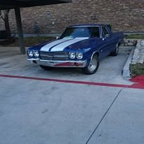 1970 Chevy El Camino 350 SS Badged Rare Blue