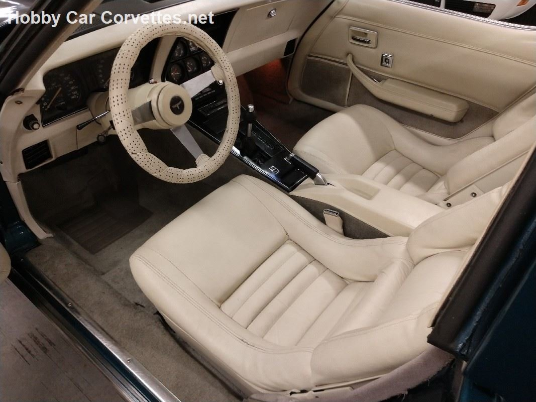1979 Blue Corvette Oyster Interior For Sale (picture 4 of 6)