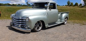 1951 Chevy 3100 pickup truck chevrolet fuel inject