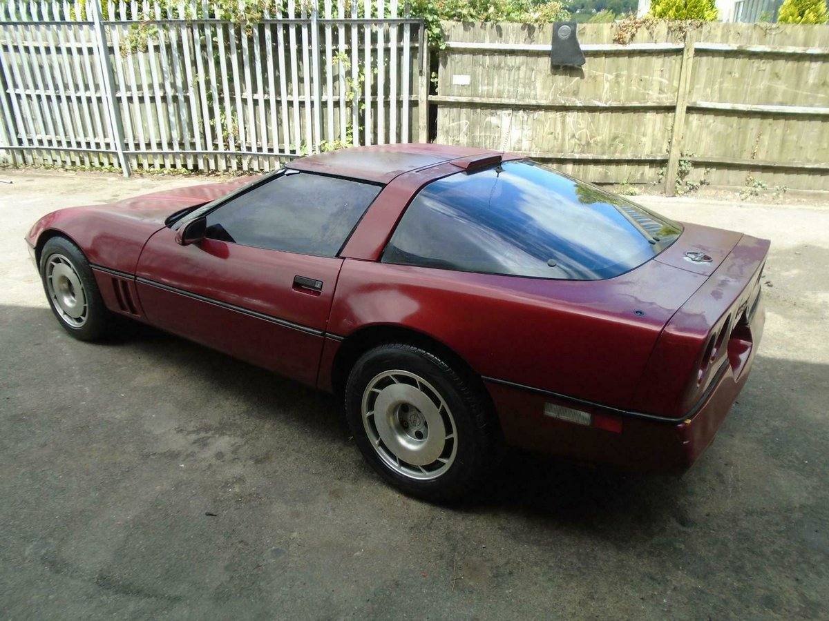 CHEVROLET CORVETTE C4 350 V8 AUTO(1989)MET RED SOLID PROJECT For Sale (picture 2 of 6)