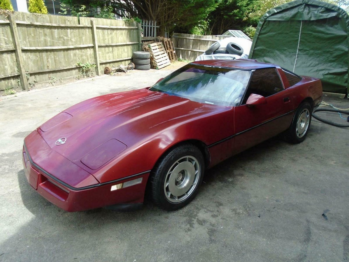 CHEVROLET CORVETTE C4 350 V8 AUTO(1989)MET RED SOLID PROJECT For Sale (picture 6 of 6)