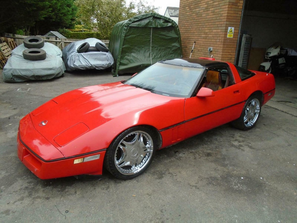 4195 CHEVROLET CORVETTE C4 350 V8 AUTO (1987) RED GREAT PROJECT!  SOLD (picture 1 of 6)