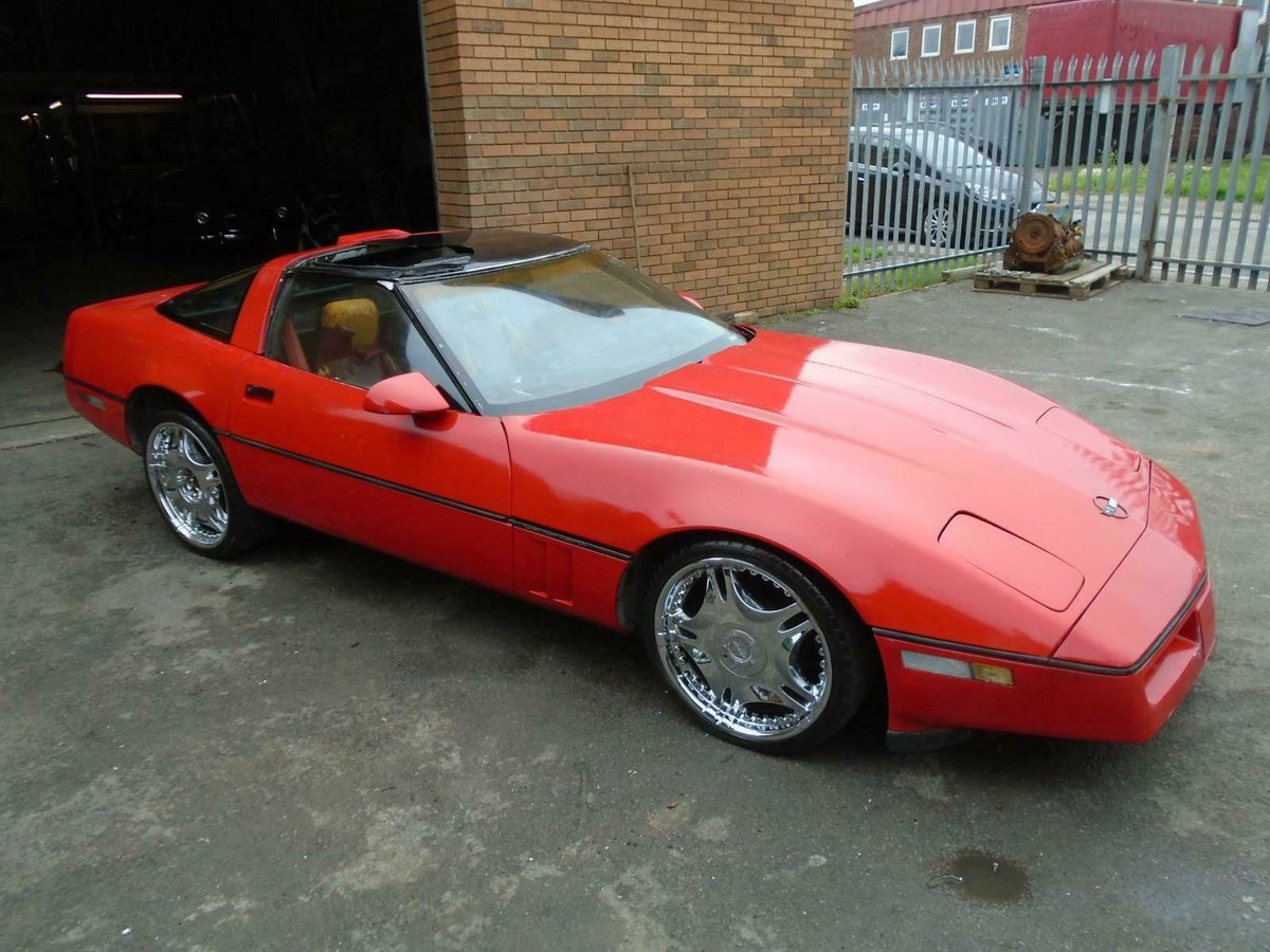 4195 CHEVROLET CORVETTE C4 350 V8 AUTO (1987) RED GREAT PROJECT!  SOLD (picture 4 of 6)