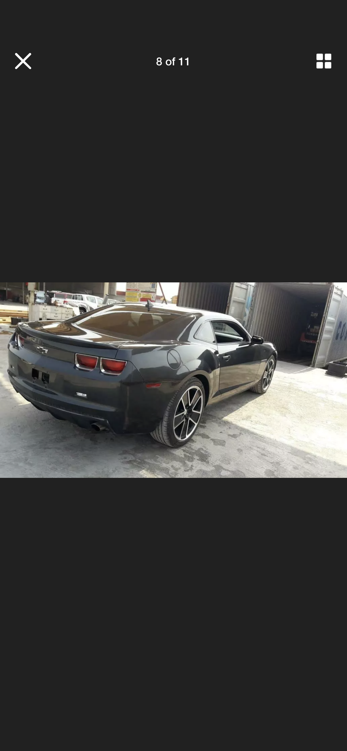 2012 CHEVROLET CAMARO GREY AUTO RS AMERICAN MUSCLE FRESH IMP For Sale (picture 6 of 6)