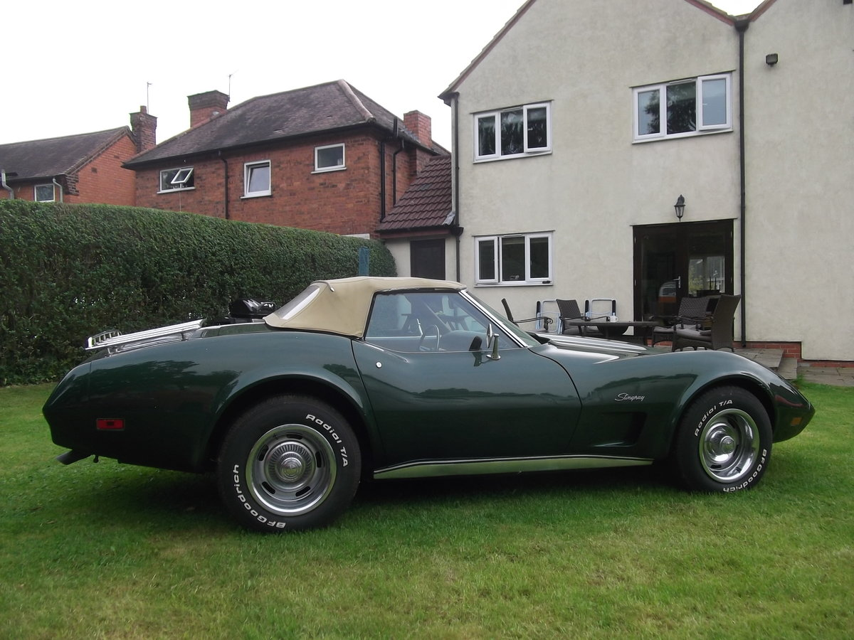 1974 Chevrolet Corvette Stingray Convertible 350V8 Manual Gearbox For Sale (picture 1 of 6)