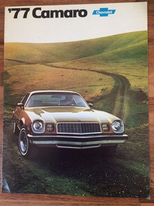 Picture of 1977 Chevrolet Camaro sales pamphlet