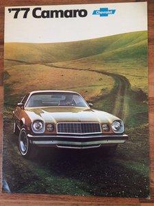 Chevrolet Camaro sales pamphlet