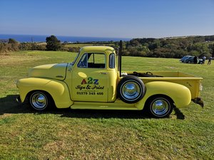 UNUSUAL YELLOW Chevy Step side TRUCK  = UYT