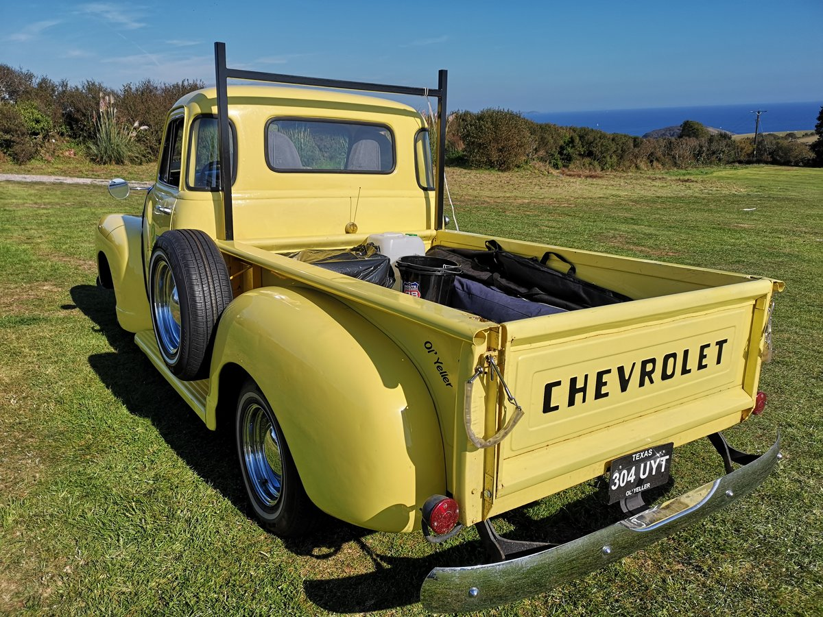 1954 UNUSUAL YELLOW Chevy Step side TRUCK  = UYT For Sale (picture 2 of 6)