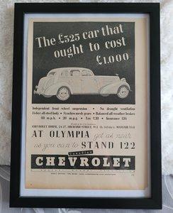 Original 1935 Chevrolet Framed Advert
