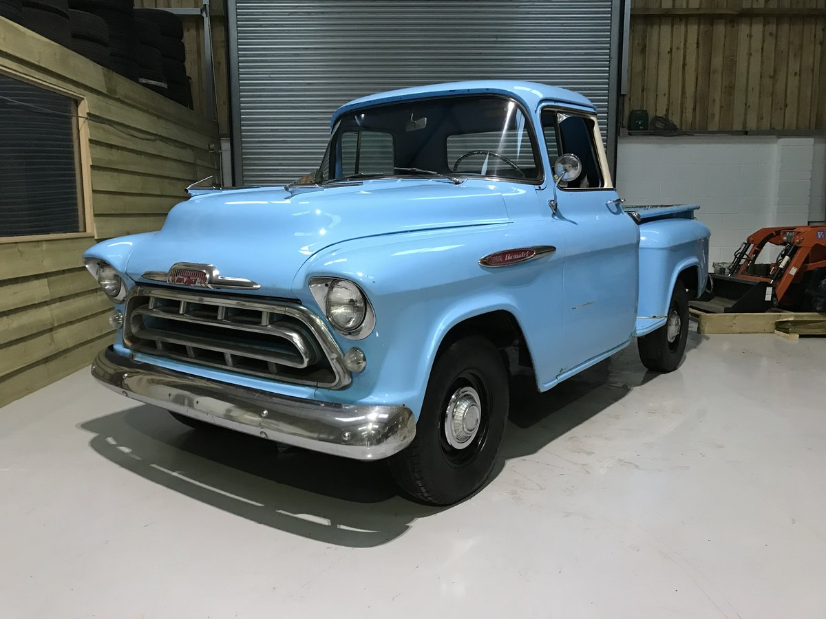 1957 Chevy 3100 Muscle Pickup Truck For Sale (picture 1 of 12)