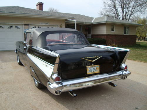 1957 Chevrolet Bel Air Convertible Black For Sale (picture 3 of 6)