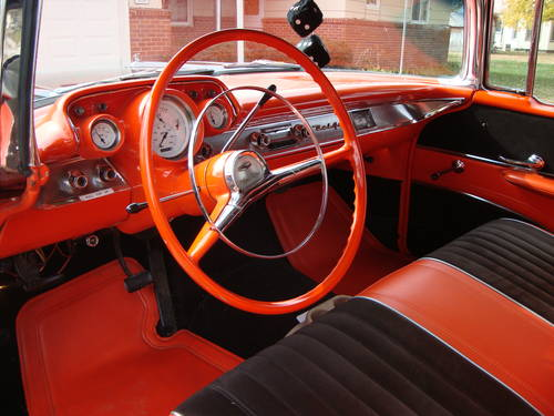 1957 Chevrolet Bel Air Convertible Black For Sale (picture 4 of 6)