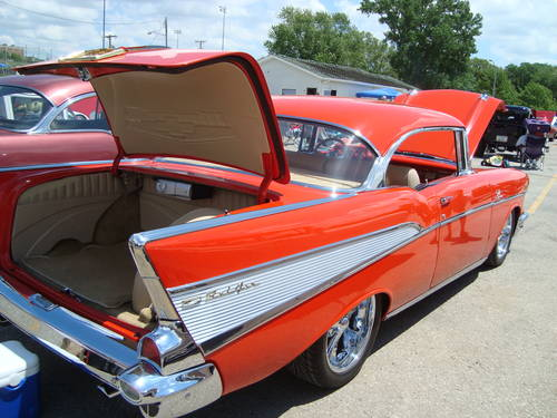 1957 Chevrolet Bel Air 2DR HT * Red For Sale (picture 3 of 6)