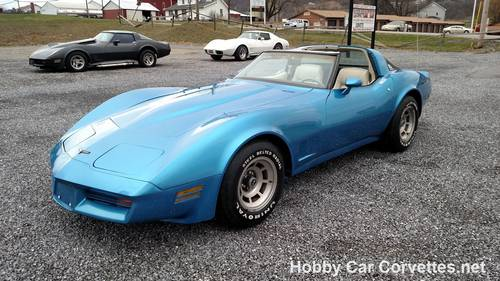 1980 Blue Corvette 4spd Oyster Int  For Sale (picture 6 of 6)