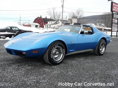 1973 Blue Big Block Hot Rod Corvette 4spd For Sale (picture 1 of 6)