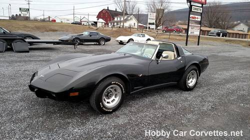 1979 Black Corvette Oyster Int 4spd Hot Rod For Sale (picture 1 of 6)