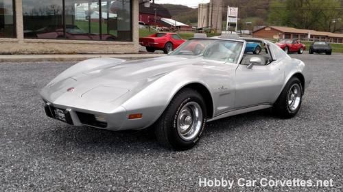 1976 Silver Corvette Stingray 37K Miles For Sale (picture 1 of 6)
