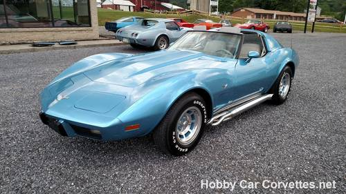 1977 Blue Corvette Smoke Gray Int Nice! For Sale (picture 1 of 6)