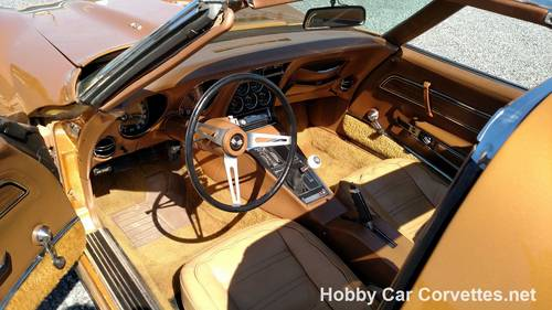 1973 Metallic Yellow Corvette Big Block 4spd  For Sale (picture 5 of 6)