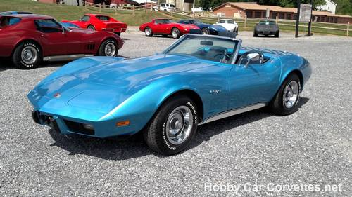 1975 Blue Blue Corvette 4spd Conv 75K Miles Nice! For Sale (picture 1 of 6)