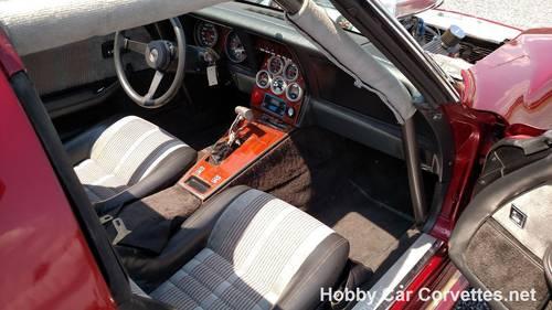 1975 Dark Red Corvette Vette Barn Drag Car For Sale (picture 4 of 6)