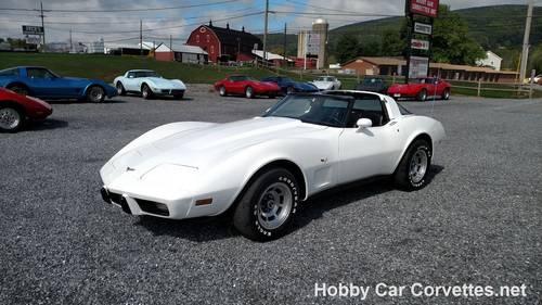 1979 White Corvette New Black Int For Sale (picture 1 of 6)