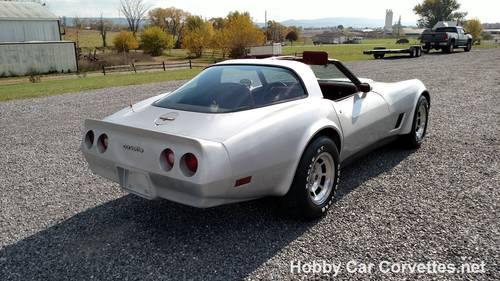 1981 Silver Corvette Red Interior For Sale (picture 6 of 6)
