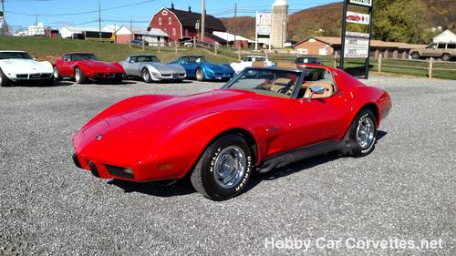 1975 Red Corvette Tan 4spd Nice Hot Rod For Sale (picture 1 of 6)