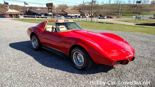 1975 Red Corvette Tan 4spd Nice Hot Rod For Sale (picture 2 of 6)