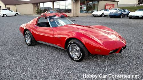 1975 Red Corvette Black Int Nice Driver For Sale (picture 1 of 6)