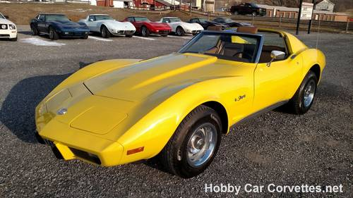 1975 Yellow Corvette Saddle Int For Sale For Sale (picture 6 of 6)