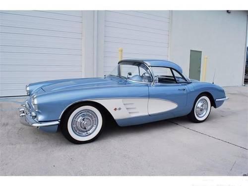 1958 Chevrolet Corvette * Silver-Blue For Sale (picture 1 of 6)