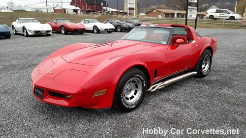 1980 Red Red Corvette 4spd 35K Miles For Sale (picture 1 of 6)